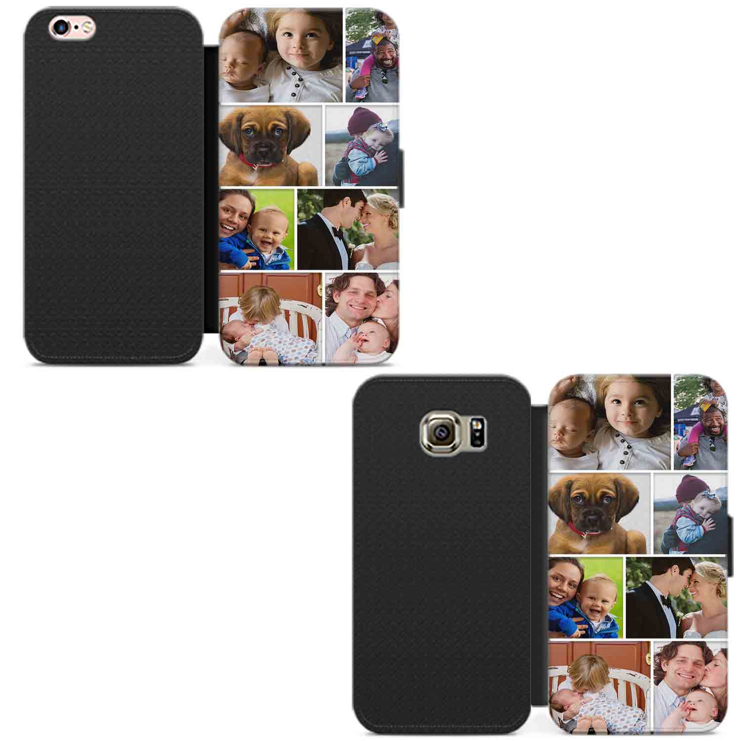PERSONALISED-PHOTO-PHONE-CASE-WALLET-LEATHER-FLIP-COVER-CUSTOMISED-PICTURE-IMAGE thumbnail 7