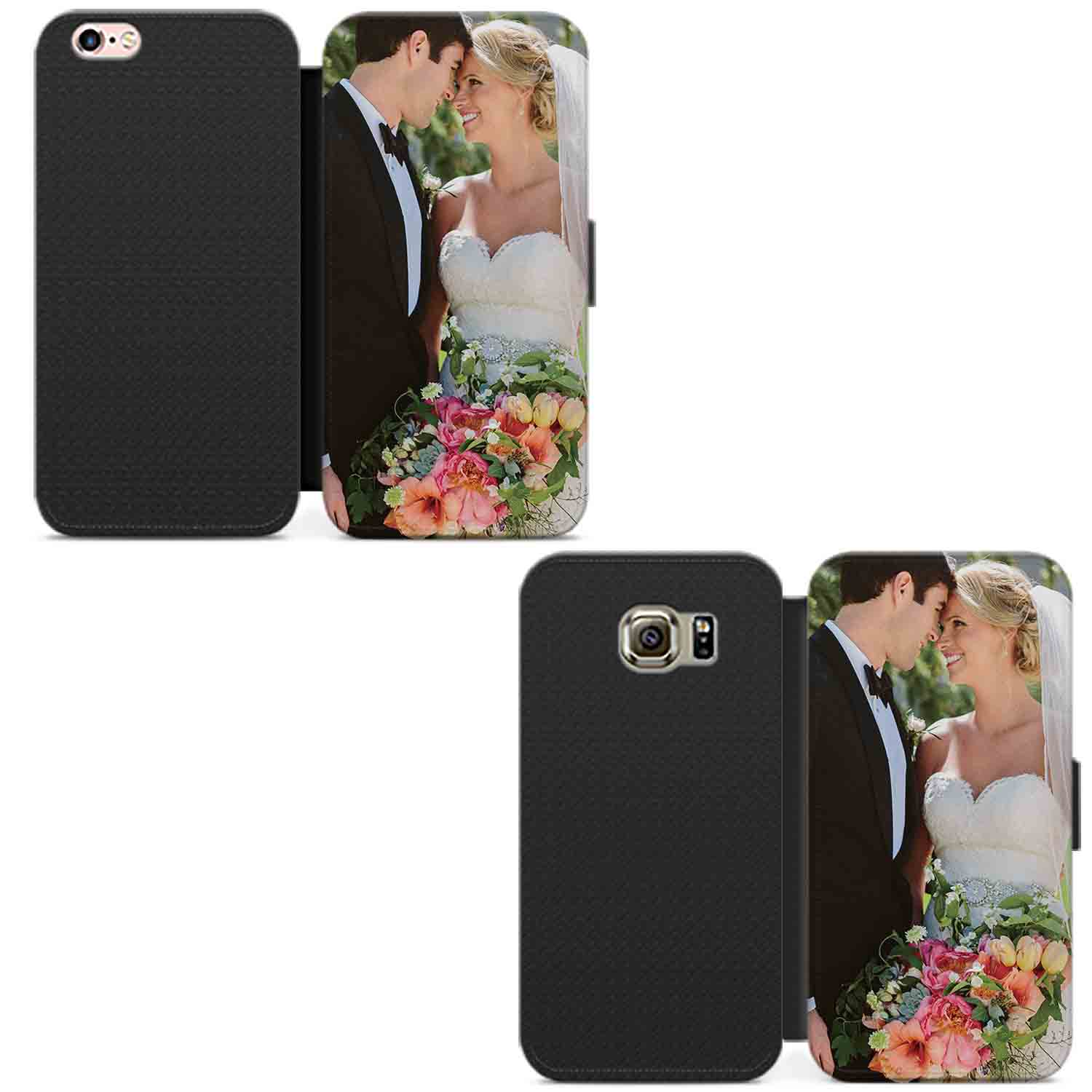 PERSONALISED-PHOTO-PHONE-CASE-WALLET-LEATHER-FLIP-COVER-CUSTOMISED-PICTURE-IMAGE thumbnail 4
